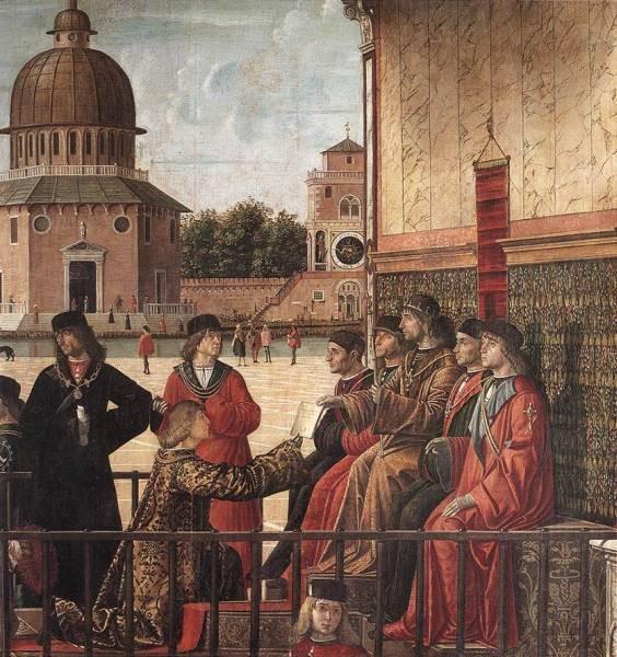 Carpaccio Arrival of the English Ambassadors detail3